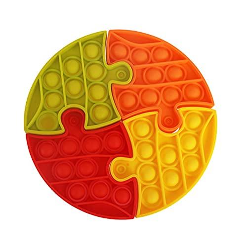 BoBoLily Más nuevo actualización sensorial Fidget juguetes conjunto, silicona empuje burbuja empalme rompecabezas alivio del estrés autismo juguete sensorial (A)