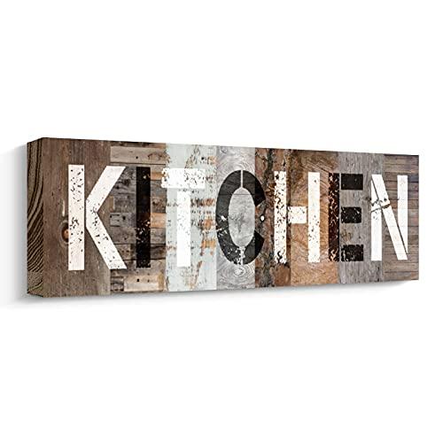 YPY Rustic Farmhouse Kitchen Decor Tabletop Decorative Signs Soild Wood Pediments Wall Decor