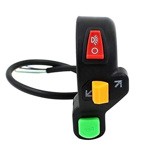 Moto Scooter de bicicleta 7/8 pulgadas intermitentes claxon encender/apagar la luz