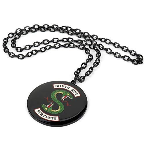 Comtervi Riverdale Halskette, Riverdale schlüsselanhänger, Southside Serpents Halskette Geschenk Einstellbare Länge