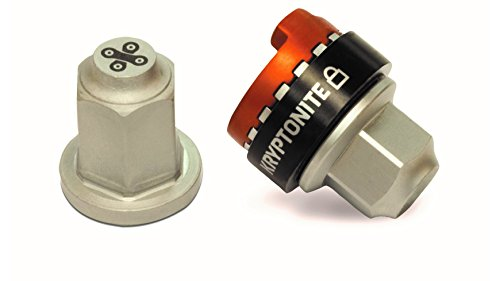 Kryptonite (001775 Accesorios Security WHEELNUTZ M10 Candado, Calidad, Plata, 9,82 mm