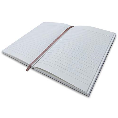 Moonster Liniertes Papier - Nachfüllpackung für Notizbuch A5 - für Moonster Nachfüllbares Tagebuch für Erwachsene Geeignet - Umweltfreundliche Säurefreie Blätter aus Baumwolle