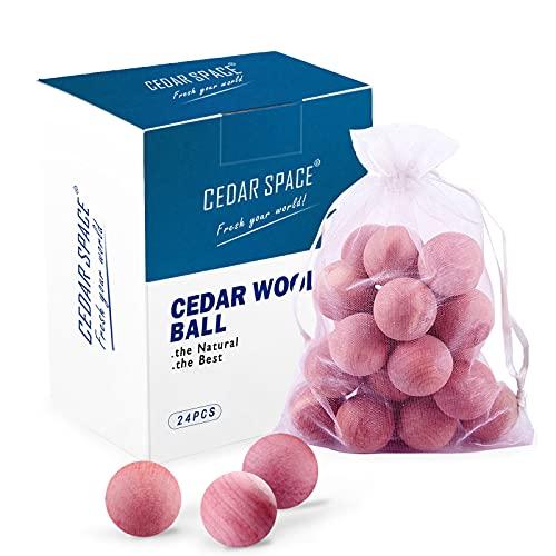 Cedar Space Cedar Blocks for Clothes Storages, 100% Aromatic Red Cedar Balls, Cedar Accessories for Closets Storages 24 PCS