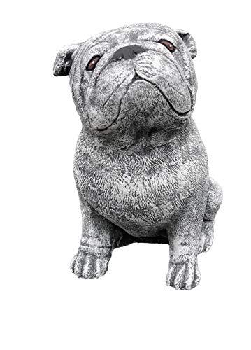 Stone and Style Steinfigur Bulldogge, massiver Steinguss, Frost- und wetterfest bis -30°C