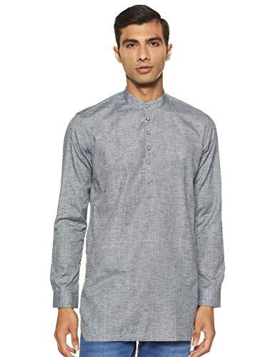 Integriti Men's Cotton Kurta (CSL-SK-3009_ Ash Grey_ Small)