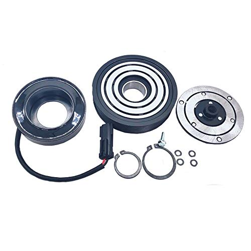 A/C AC Compressor Clutch Repair Kit - Drive Plate Hub Pulley Bearing Coil replacement for Jeep Liberty 6 Cyl. 3.7L 2002 2003 2004 2005