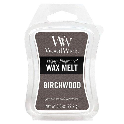 Woodwick Birkenholz Duftwachs zum Schmelzen, Plastik, grau, 5.7 x 7.3 x 2 cm