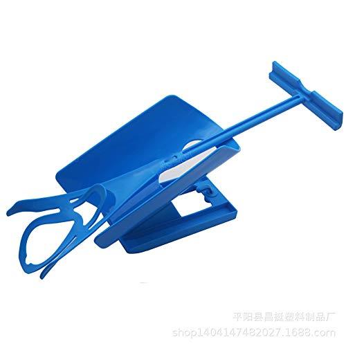 Ouken Calcetines 1pc Que Visten el Dispositivo Auxiliar Que USA la Herramienta de la Ayuda para la Cintura y la Pierna inconveniencia (Azul)