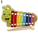 Vektenxi Xylophon Spielzeug Baby Kinder Percussion Musical Tier 8 Tasten