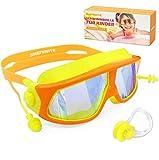 Kinder Schwimmbrille, Schwimmbrillen für Kinder, Verstellbar Taucherbrille Anti Nebel, UV-Schutz,...