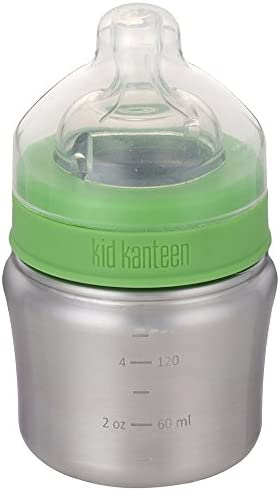 Klean Kanteen Kid Baby Bottle with Lid Brushed Stainless One Size 5 oz product image