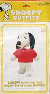 "Peanuts Snoopy's Wardrobe Outfit for 18"" Plush Snoopy - Red Preppy Shirt w Snoopy Logo"