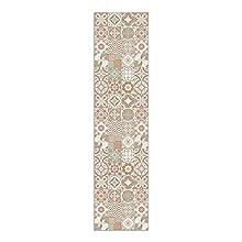 Alfombra Vinílica, 240 x 60 cm, Baldosas, Alfombra de Vinilo para Salón, Cocina, Baño y Pasillo, Spring, ALV-049-SP