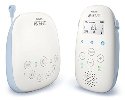Philips AVENT SCD715/26 video-monitor para bebés 330 m Azul, Blanco - Vigilabebé (330 m, 50 m, 330 m, Azul, Blanco, LCD, Corriente alterna, Batería)