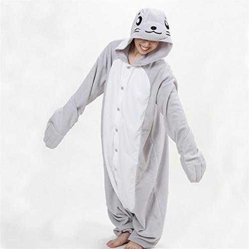 WJCRYPD Disfraces Unisex Animal Adulto Pollo Blanco Bodies Pijama Pijama Cosplsy Linda Acogedora Ropa De Noche del Hombre Y De La Mujer Homewear Qf Shop (Color : D, Size : Large)