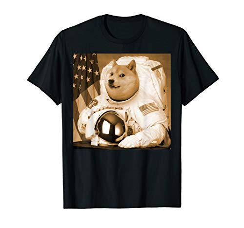 Dogecoin Moon Astronaut crypto-currency Meme Geld Shirt