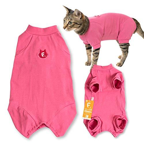 犬猫の服 full of vigor_猫用シンプル袖付きつなぎ_6/ピンク_C2S_猫用