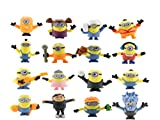Despicable Me Action Figures – Minions Small Figure Set – 16 pcs Fun Minions Set in Fun and Cute Design – Premium Minion Toys for Kids – Collectible Minion Brooches