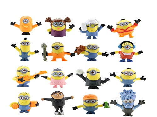 Despicable Me Action Figures – Minions Small Figure Set – 16 pcs Fun Minions Set in Fun and Cute Design – Premium Minion Toys for Kids – Collectible Minion Brooches