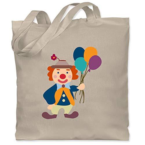 Shirtracer Bunt gemischt Kinder - Clown Luftballons - Unisize - Naturweiß - Zirkus - WM101 - Stoffbeutel aus Baumwolle Jutebeutel lange Henkel