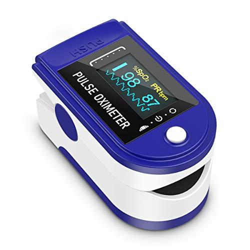 Pulsossimetro, Ossigeno Monitor Dito Cardiofrequenzimetro Ossigeno Saturazione Monitor con display OLED iAGFTS