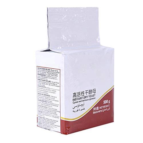 DealMux 500 g de levadura de pan Levadura seca altamente activa Suministros para hornear de cocina bajos en azúcar