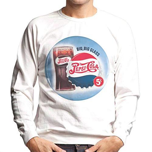 Pepsi Cola Retro Big Glass Men's Sweatshirt