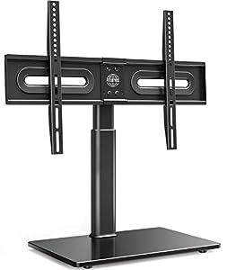 FITUEYES Soporte Giratiorio de TV de 32 a 65 Pulgadas Altura Ajustable Soporte de Mesa para Televisor LCD LED OLED Plasma Plano Curvo TT105202GB
