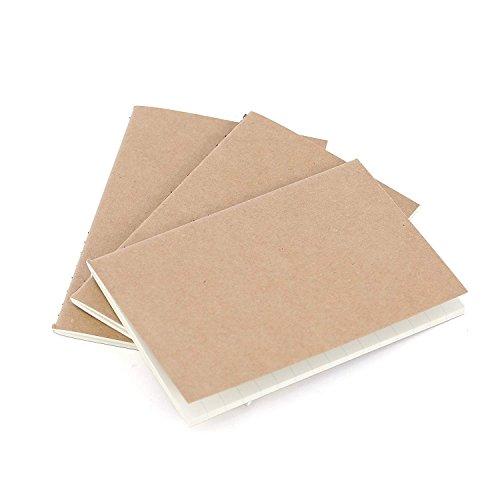 Reise Taschennotizbuch Nachfüllblätter -Liniert Papier - 3er Set   Reisepass Journalgröße   für kleine auffüllbare Reisejournale, Tagebücher und Notizbücher   Travel Notebook Inserts   12,5 x 9 cm