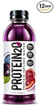 Protein2o Low Calorie Protein Infused Water, 10g Whey Protein Isolate, Acai Blueberry Pomegranate (16.9 oz, Pack of 12)