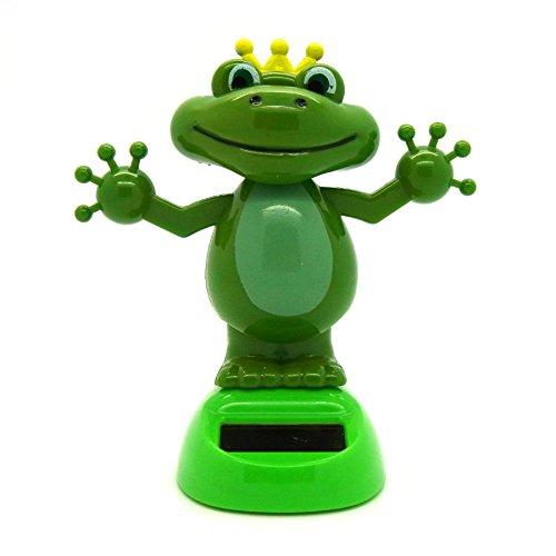 Starlet24 Solar Wackelfigur Frosch Dekoration Glücksbringer Dancing Frog Froschkönig NEU