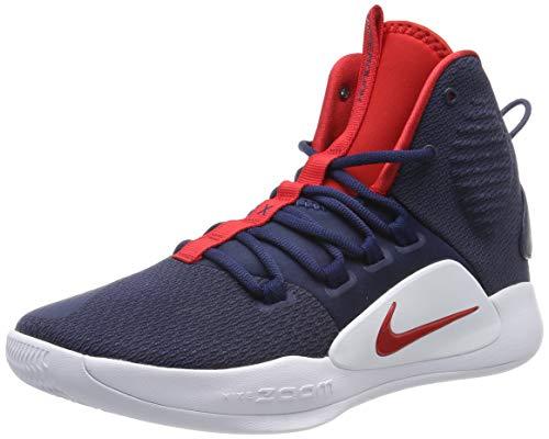 Nike Hyperdunk X, Zapatos de Baloncesto Unisex Adulto, Azul (Midnight Navy/University Red/White 400), 42.5 EU