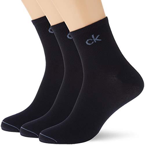 Calvin Klein Socks Mens Quarter 3p Nick Socks, Navy, ONE Size