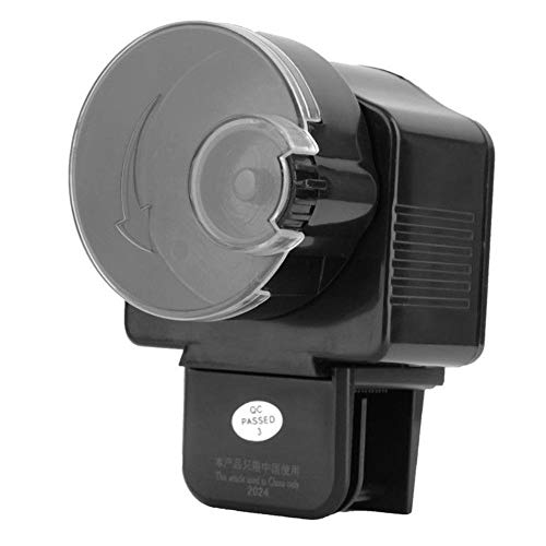 ksjdjok Alimentador automático de Peces Acuario Ajustable Peces de Acuario Comida LCD Pantalla Auto Temporizador Dispensador de alimentación automático