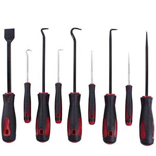 CCLIFE 9 TLG Nadel & Haken Set Schaber Montagehaken O-Ring Dichtung Demontage Werkzeug
