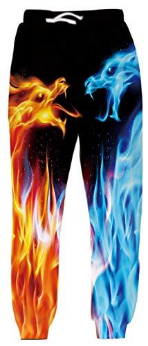 Belovecol Sporthose für Teenager Jungen Mädchen Funny Trainingshose Lang Dragon Jogginghose Casual Mode Kordelzug Hose