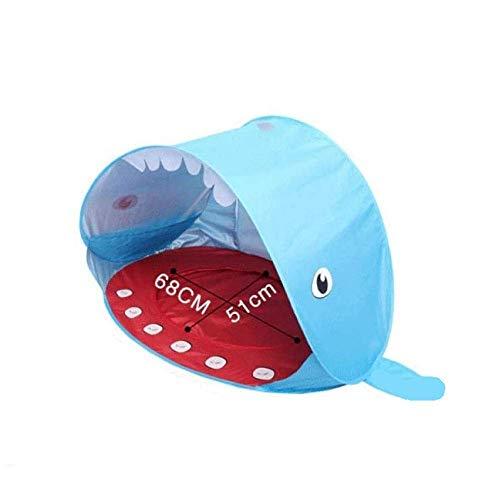 NLRHH Tienda Tiburón Shark Forma Baby Beach Tent Pop con Piscina Protección UV Canopy Sun Shelter for niños niños al Aire Libre Camping Sombrero Peng