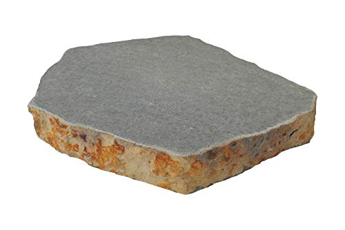 Trittsteine aus Basalt, rundlich, ca. 6 cm stark, Oberfläche wahlweise Bearbeitung geflammt