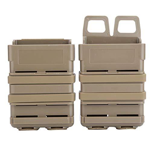 Keenso Magazintasche, 2 Stück schweres Magazin, 5,56 mittlere Magazintaschenhalter-Aufbewahrungsbox-Taschen für M4 MAG Polymer(BRÄUNEN)