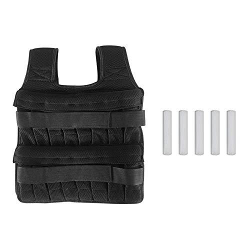 ORETG45 Chaleco de peso unisex, chaqueta de pesos ajustables, transpirable, a prueba de golpes, chaleco de carga con peso para correr, fitness, pérdida de peso con 5 piezas de placa de acero (