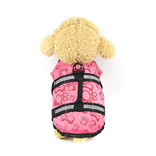 Gulunmun XS-XL Westen Welpen Hund Rettungsschwimmen Schwimmen Schutzkleidung Weste Badeanzug Outdoor Haustier Hund Katze Float Doggy Schwimmwesten Westen-3 XL