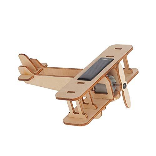AZHLUF DIY Flugzeugmodell, Solar Holzpuzzle, 3D Montage Spielzeug für Kinder, pädagogische Wissenschaft Puzzle Kits, für Jungen, Mädchen, Erwachsene