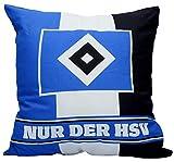 HSV Kissen 38x38cm, schwarz-weiß-blau