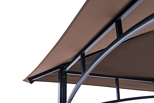 ABCCANOPY Grill Shelter Replacement Canopy Roof ONLY FIT for Gazebo Model L-GZ238PST-11 (Brown)