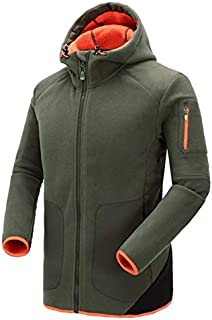 BEESCLOVER Top Brand Mens Fleece Windbreakers Warm Hiking Outwear Hooded Camping Clothes for Fishing Hunting Outfit Men Outdoor Jacket