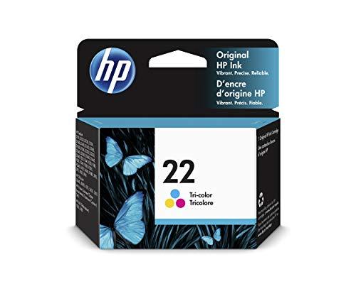 HP 22 C9352AE - Cartucho de Tinta Original Tricolor, Compatible con impresoras de inyección de tinta HP Deskjet D1530, D1560, D2360, D2460, F2290, F335, F2180, F380, F390, F4180; Officejet 4315, 4355
