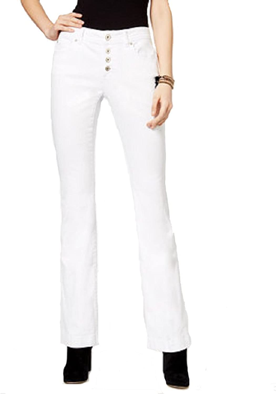 INC International Concepts White Wash Bootcut Jeans