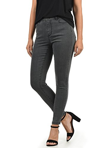 VERO MODA Jenna Damen Jeans Denim Hose Strech Mid-Rise Skinny Fit, Größe:XS/ L32, Farbe:Grey