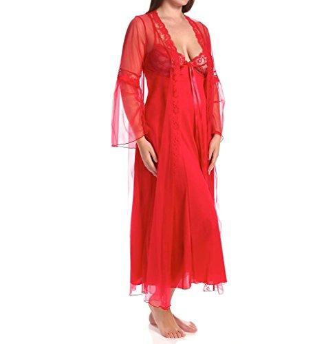 Shirley van Hollywood Maat 2X Rood Lange Jurk, 2-delig