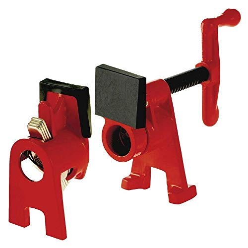 Bessey BPC-H12 1/2-Inch H Style Pipe Clamps, 4 Pack